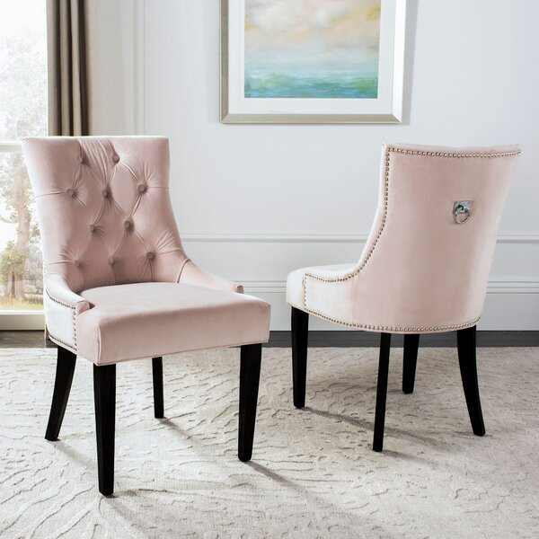 Ring Tufted Linen Upholstered Side Chair (Set Of 2) By Willa Arlo Interiors