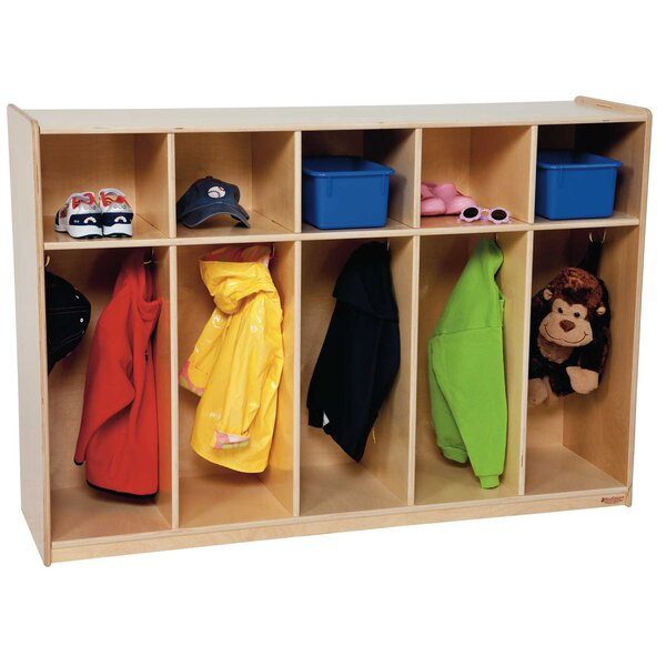 2 Tier 5 Wide Coat Locker by Wood Designs