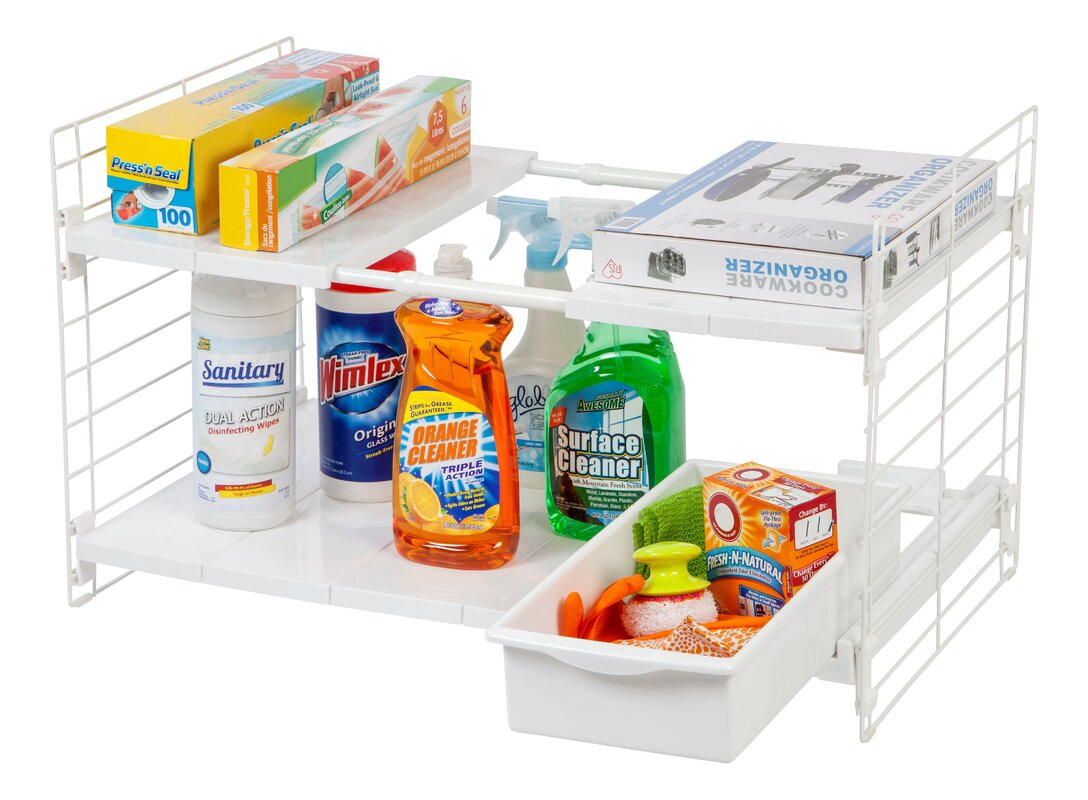 Under-Sink Shelving Rack