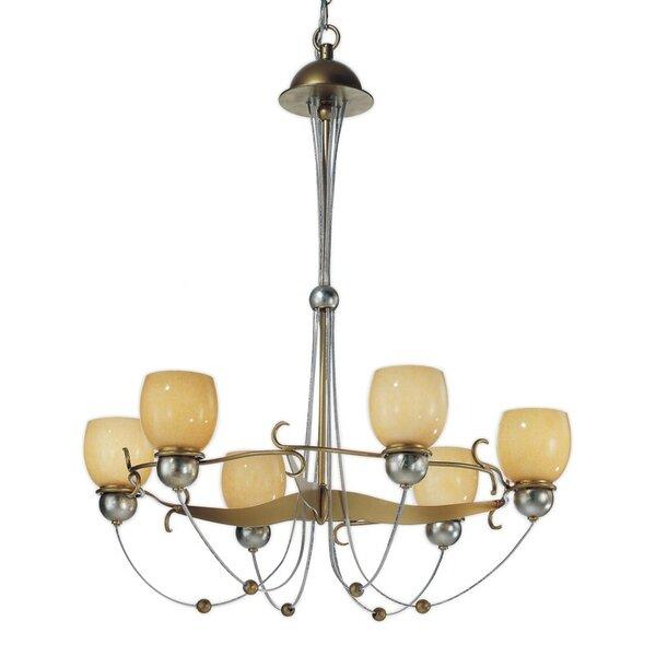 Rimini 6 - Light Shaded Geometric Chandelier By Zanin Lighting Inc.