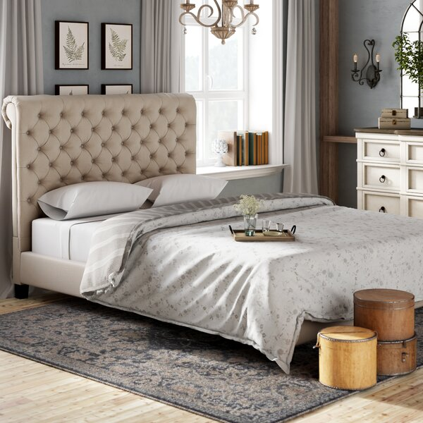 Melyna Traditional Upholstered Standard Bed by Lark Manor