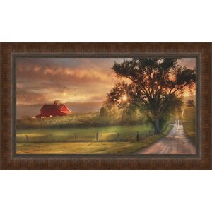 'Country Lane Sunset' Framed Photographic Print by Ashton Wall Décor LLC