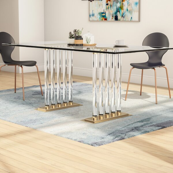 Cravens Glass Dining Table by Mercer41