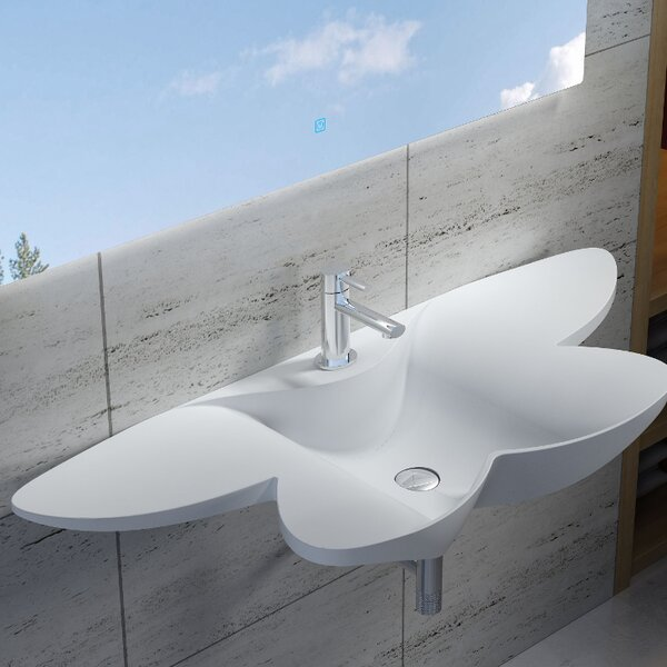 Butterfly Stone 53 Wall Mount Bathroom Sink by InFurniture