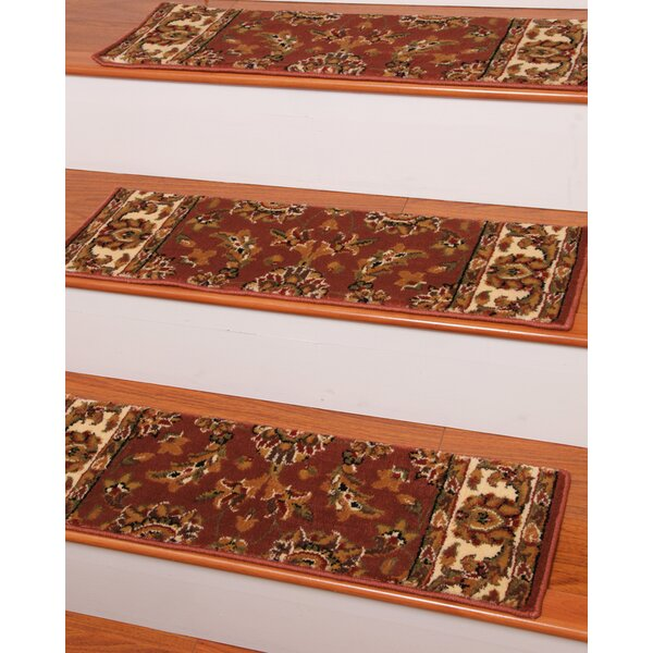 Sydney Terracotta Classic Persian Stair Tread (Set of 13) by Natural Area Rugs