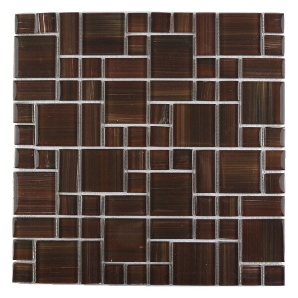 Handicraft II Random Sized Glass Mosaic Tile in Glazed Chocolate by Abolos