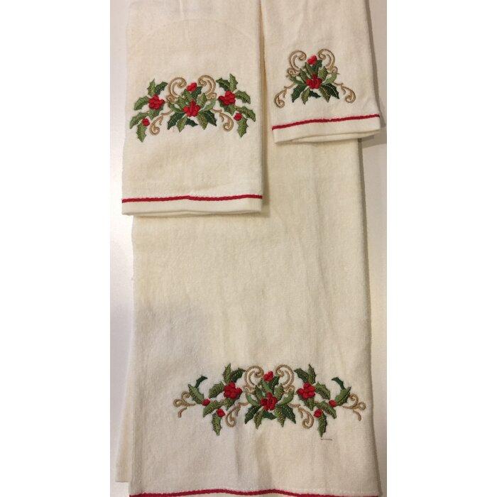 Christmas 3 Piece 100% Cotton Towel Set