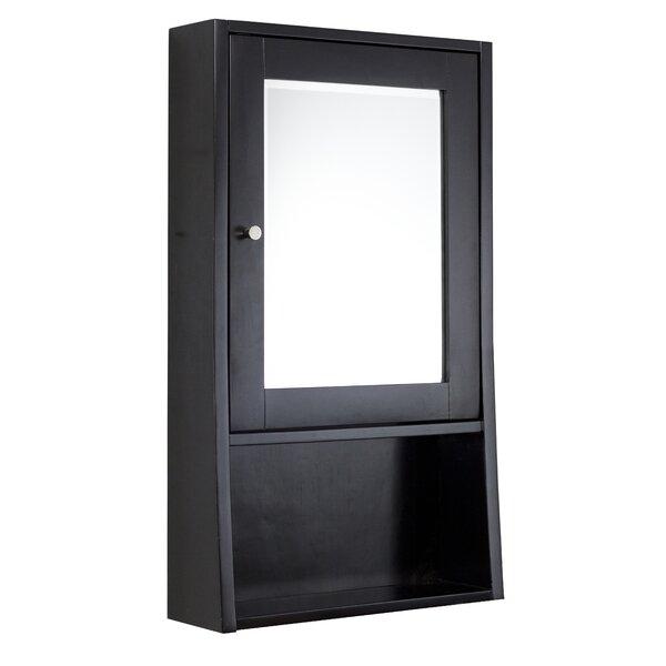 Borealis Birch Wood-Veneer Surface Mount Framed 1 Door Medicine Cabinet with 1 Adjustable Shelf
