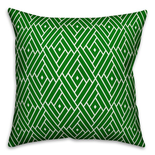 Steil Lime Color Diamond Pattern Outdoor Throw Pillow by Bay Isle Home
