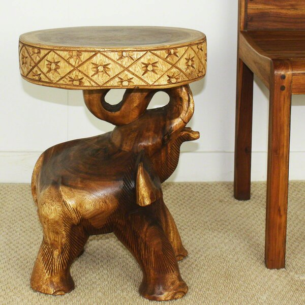 Daub Elephant Chang End Table by World Menagerie