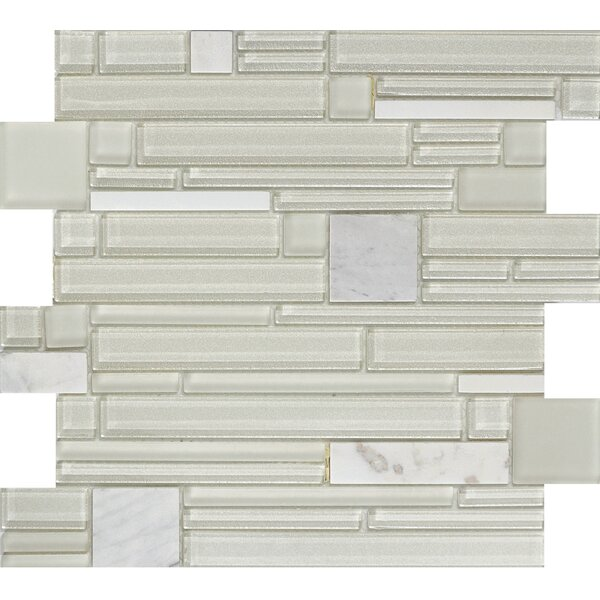 Entity Glass/Stone Mosaic Tile in Gusto by Emser Tile