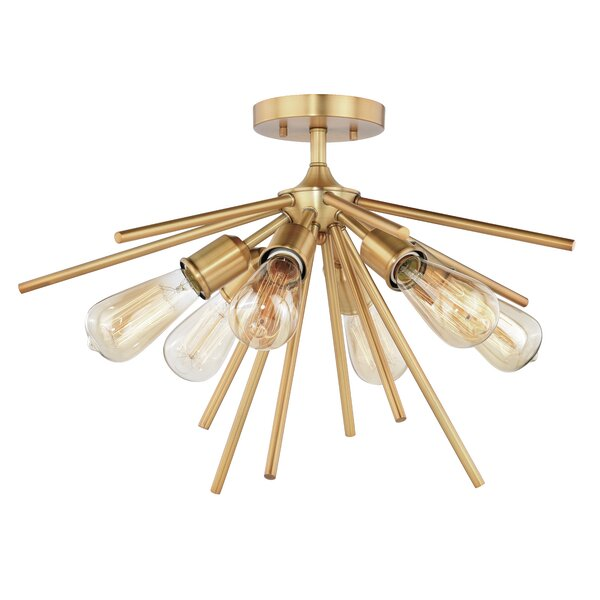 Berryhill 6-Light Semi Flush Mount by Langley Street