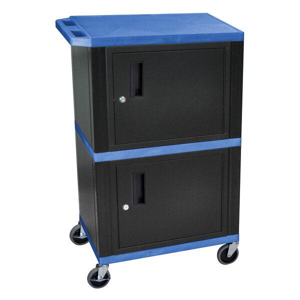 Mobile Printer Stand with Cabinet Storage by H. Wilson Company