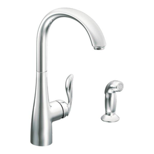 Arbor Single Handle Kitchen Faucet with Side Spray by Moen