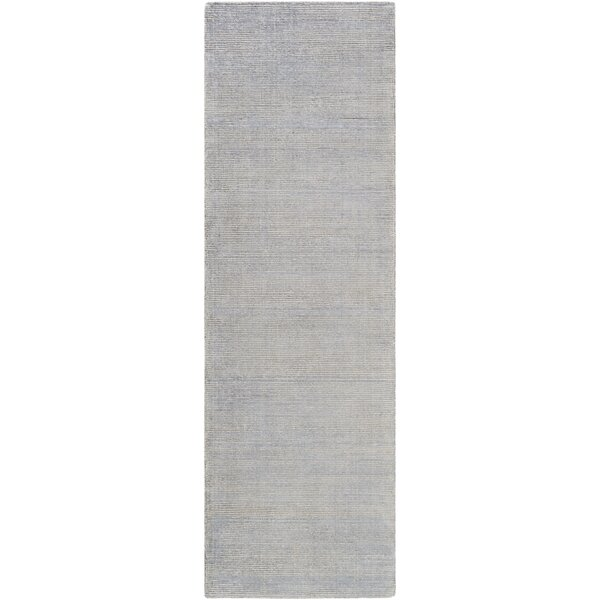 Cora Hand-Loomed Medium Gray/Ivory Area Rug by Viv + Rae