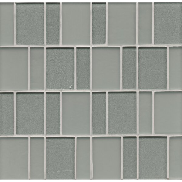 Remy Glass Mosaic Brick Tile in Blue by Grayson Martin