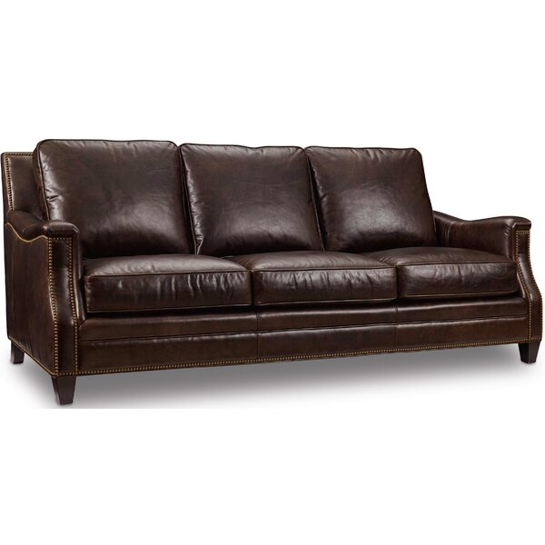 Bradshaw Leather Sofa by Hooker Furniture