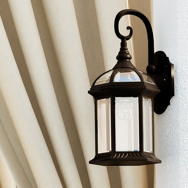 Powell 1-Light Outdoor Wall Lantern by Laurel Foun