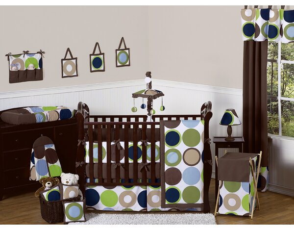 Designer Dot 9 Piece Crib Bedding Set by Sweet Jojo Designs
