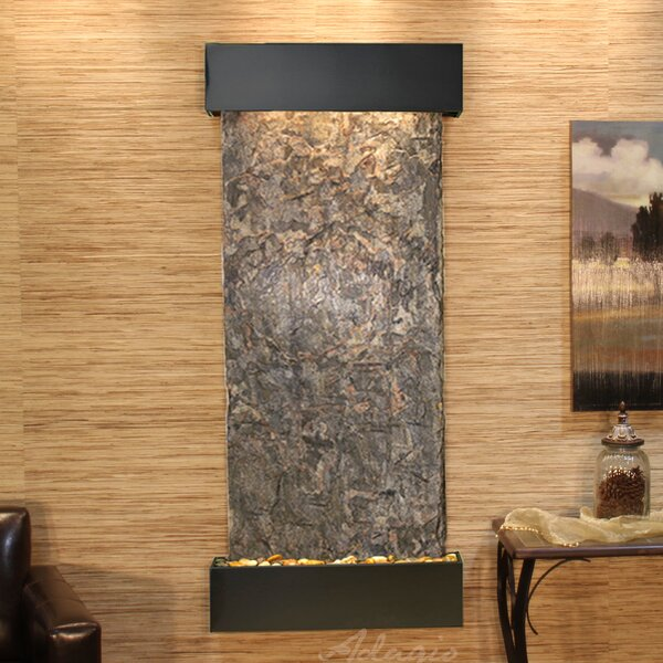 Inspiration Falls Natural Stone/Metal Wall Fountain by Adagio Fountains
