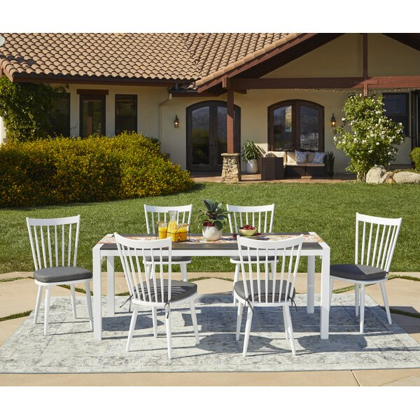 Chenery 7 Piece Indoor/Outdoor Dining Set With Cushions By Alcott Hill