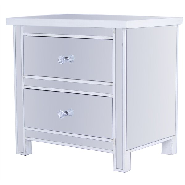 Gibbs Mirrored 2 Drawer Accent Chest by Rosdorf Park