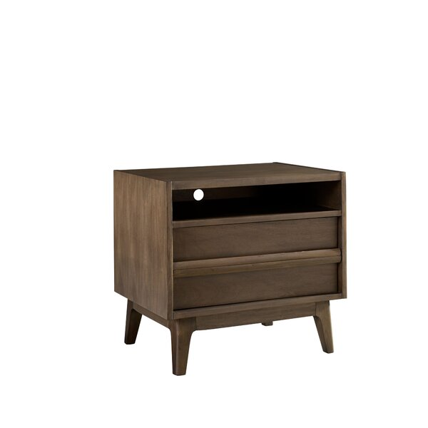Calvillo 2 Drawer Nightstand by George Oliver