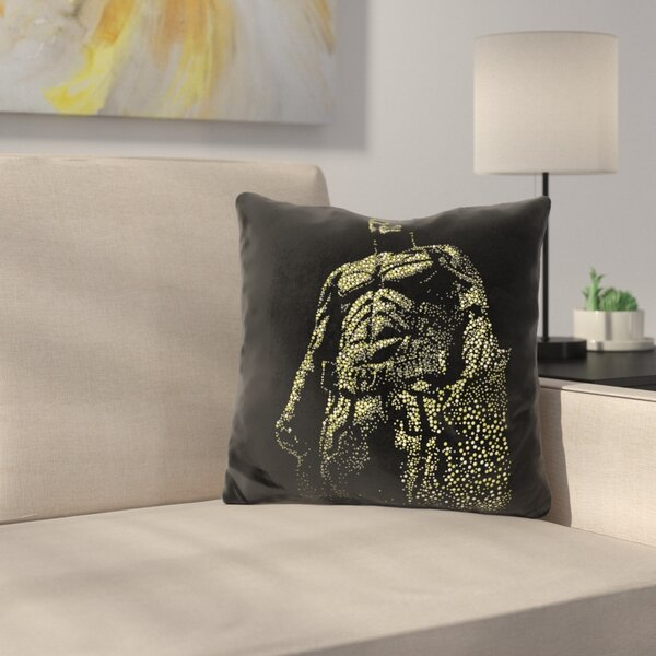 Dark Knight Throw Pillow by East Urban Home