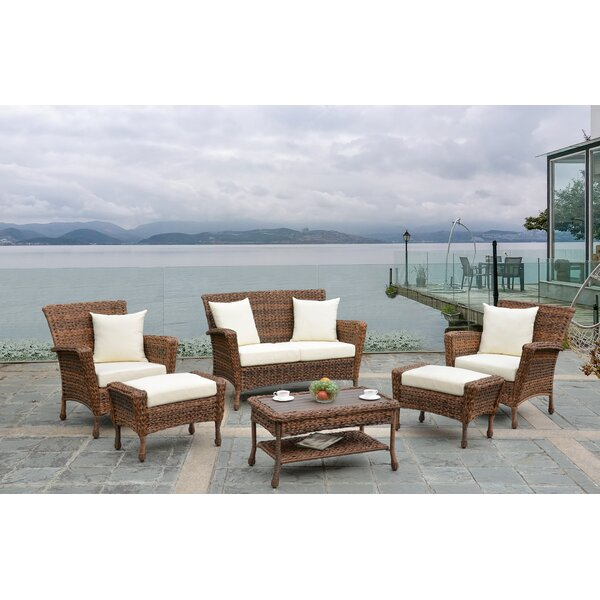 Wicklund Outdoor Garden 6 Piece Sofa Seating Group with Cushions by Highland Dunes