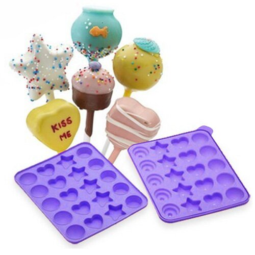 Cake Pops Shapes Instant Baking Pan (Set of 2) by Vandue Corporation