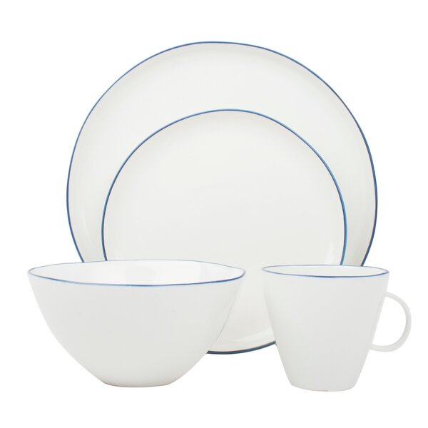 Abbesses 4 Piece Place Setting, Service for 1 by Canvas Home