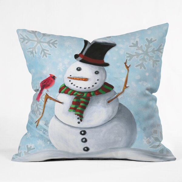 Madart Inc. Winter Cheer Throw Pillow by Deny Designs