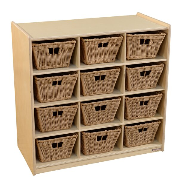 12 Compartment Cubby with Bins by Wood Designs