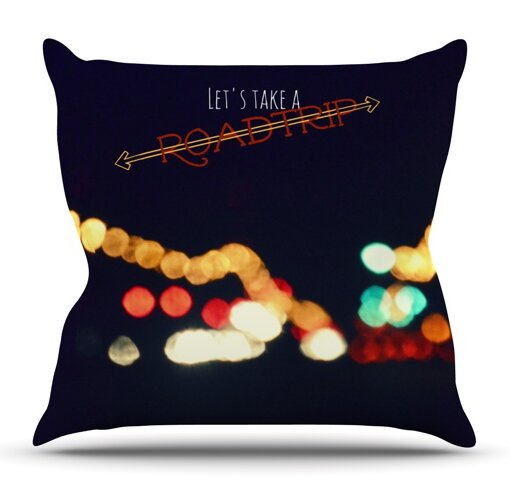 Road Trip By Robin Dickinson Outdoor Throw Pillow