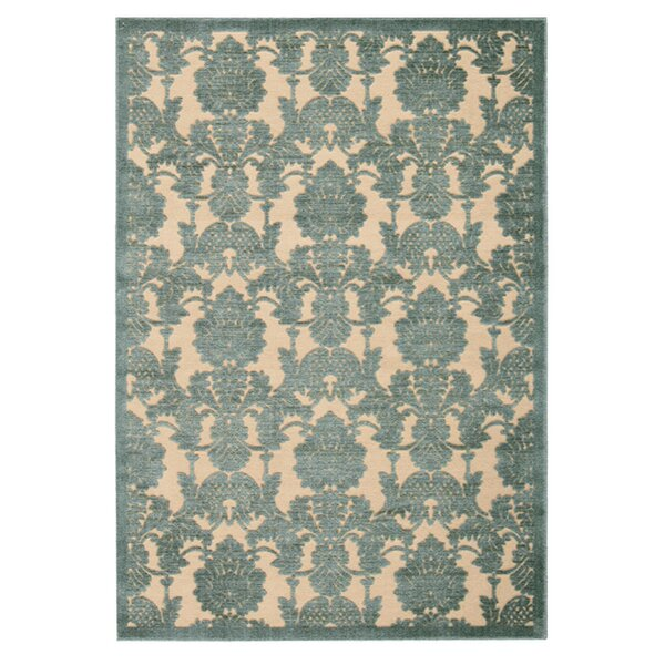 Castle Heights Teal Area Rug by Alcott Hill