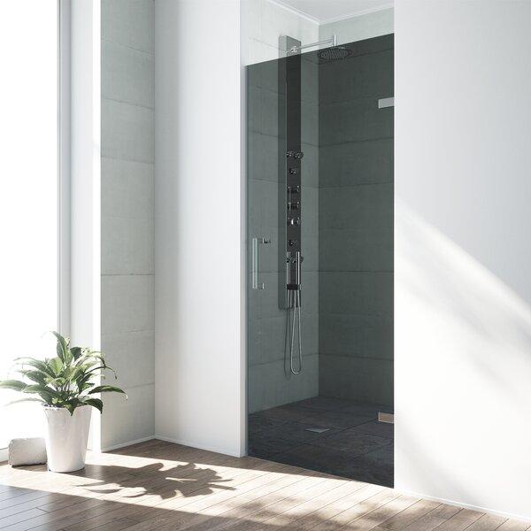 SoHo 26.27 x 70.63 Hinged Adjustable Frameless Shower Door by VIGO