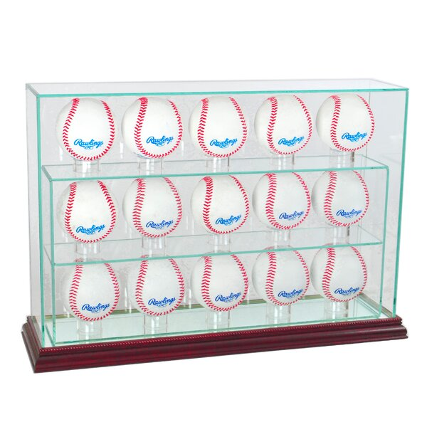 15 Baseball Upright Display Case by Perfect Cases