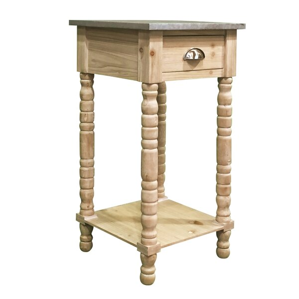 Audubon Pine Wood End Table by Highland Dunes Highland Dunes