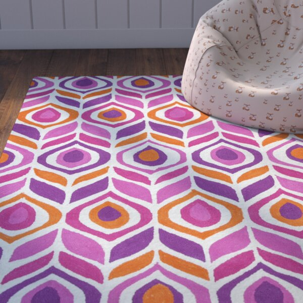 Zachariah Hand-Tufted Pink Area Rug by Zoomie Kids