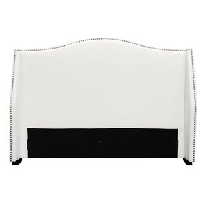 Queen Upholstered Wingback Headboard by BestMasterFurniture
