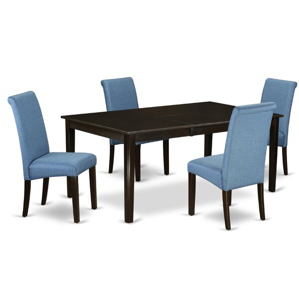 #1 Tatyana Table 5 Piece Extendable Solid Wood Dining Set By Winston Porter 2019 Sale