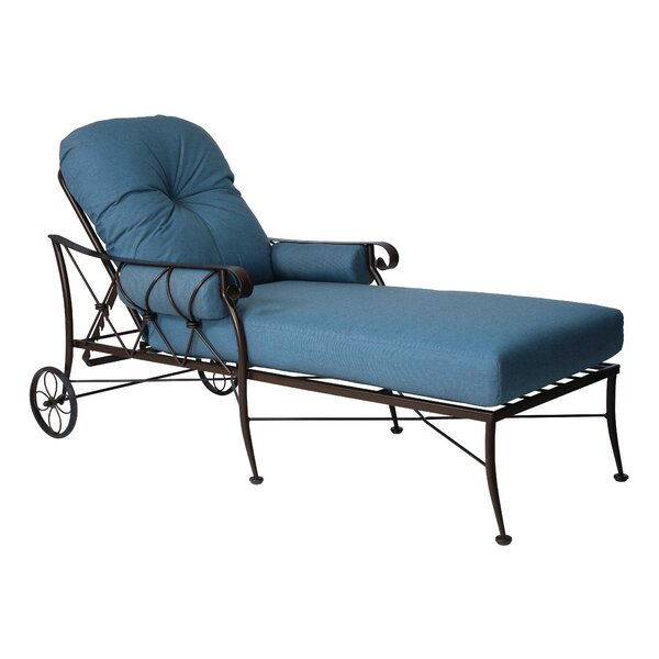 Derby Chaise Lounge With Cushion by Woodard