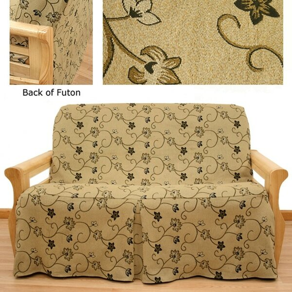 Charlotte Skirted Box Cushion Futon Slipcover By Easy Fit