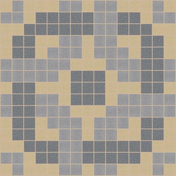 Urban Essentials Rounded Lattice 3/4 x 3/4 Glass Glossy Mosaic in Urban Khaki by Mosaic Loft