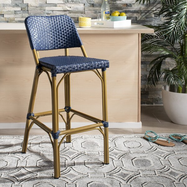 Dendron 29.5 Patio Bar Stool by Bungalow Rose