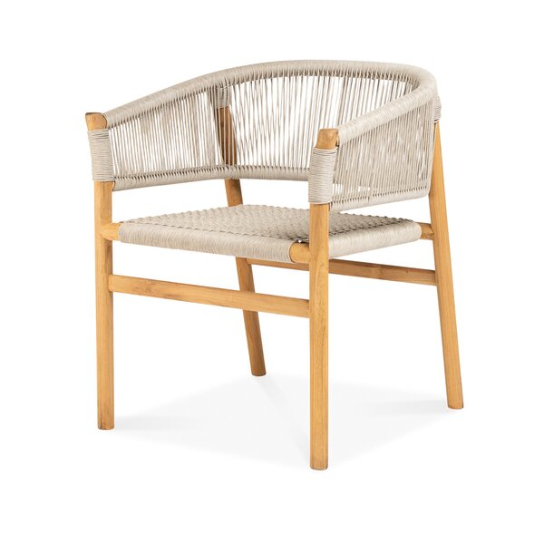 Randers Teak Patio Dining Chair by Bungalow Rose