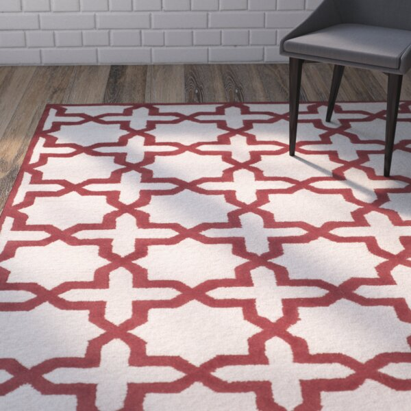 Martins Ivory / Rust Area Rug by Wrought Studio