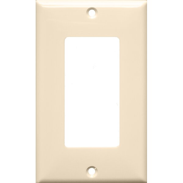 1 Gang Decorator / GFCI Lexan Wall Plates in Almond by Morris Products