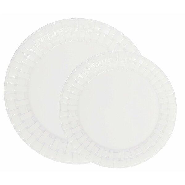 Engel Weave 50 Piece Melamine Dinnerware Set Service for 25 by Winston Porter
