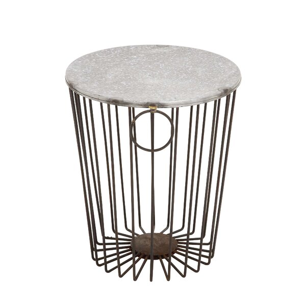 Vizcaino Classy Fascinating Metal Wire Stool by Wrought Studio